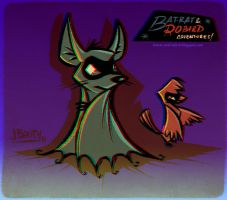 Bat-Rat and Robird (anaglyph 3D) by juanbauty