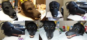 Werewolf mask WIP part 8 by Farumir