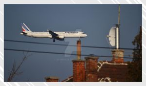 Airfrance above rooves by Skyrover