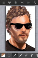 Norman Reedus, still WIP by sarabanu