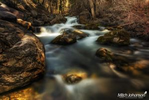 The Boulder Filled River  by mjohanson