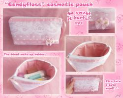 "Cute ""Candyfloss"" pouch by BlueDove415"