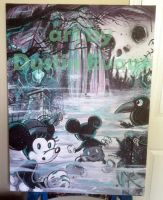 Mickey and Minnie visit the Haunted Mansion by DustinEvans