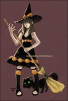 ..::GEMINI: Pumpkin Witch::.. by Megan-Uosiu