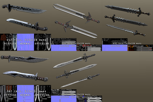Low poly blades by MultiCamil