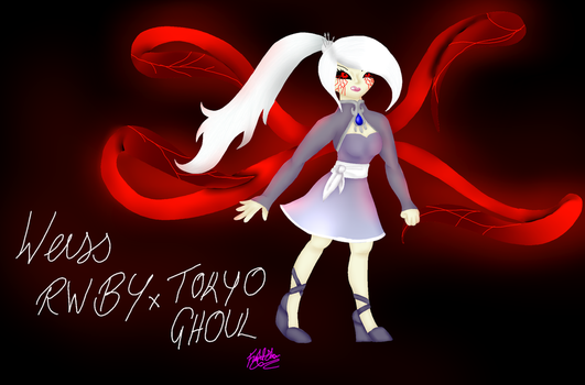 RWBY x Tokyo Ghoul 2 - Weiss Schnee by FightStorm