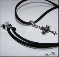 Mens Cross Necklace by 1337-Art
