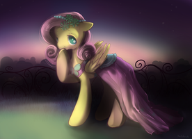Fluttershy on Canterlot wedding by Mao-Ookaneko