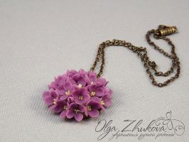 pendant with lilac by polyflowers