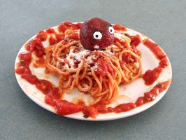 Spaghetti and Meatwad by professorhazard
