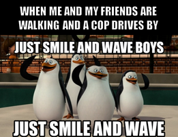 Just smile and wave by onyxcarmine