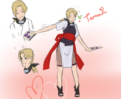 Temari Road to Ninja  Fan Concept Art by BayneezOne