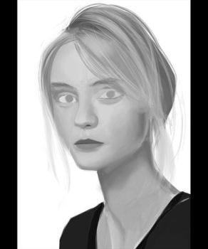 Blonde portrait study process by Ciov-art