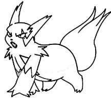 Out line on photoshop Zangoose by Manatreehero