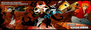 AKU Vs. The Rurouni by Anubis-005