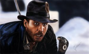 painting Indiana Jones by Ineer