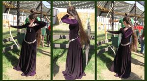 purple dress - archery by aelthwyn