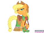 Pixelated Gala Applejack by Nilamari