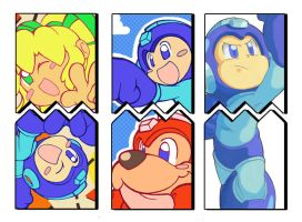 Megaman Tribute Teasers by Air-City