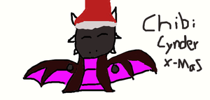 Chibi Cynder X-mas by Shorty-Greydragon