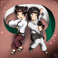 RQ:TenTen and Neji by xXUnicornXx