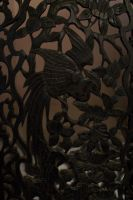 Wood carved Bird Design by paintresseye