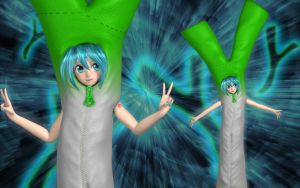 Miku's Leek Costume by Primantis