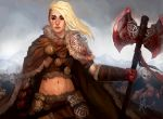 Snow Barbarian Leader by TheBoyofCheese