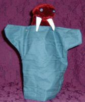 Burgandy Walrus by puppetry