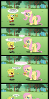 Fluttershy y la Cangreburger by mercenario1945