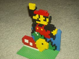 Mario Bros Lego by Obscuratio