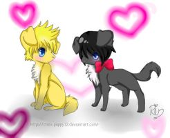 roxas and xion by chibi-puppy12