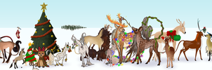 Festive Fawnling Lineup 2013 WIP by TigressDesign