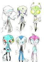 irken ghost and sea monster adoptabes by anonymousinvader24