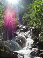 Gleaming Falls by Man-Upstairs