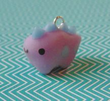 Kawaii Clay Dinosaur Charm by SolarCrush
