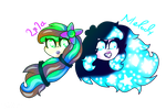 Melody And Lila by flame-finn-marce