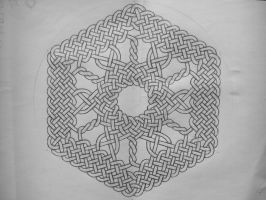 Hexagonal celtic knot by Trablete
