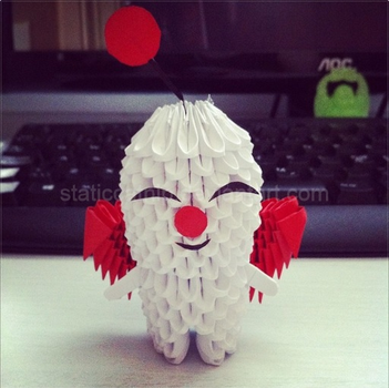 3D Origami: Moogle (Final Fantasy) by inyeon