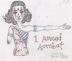 One Armed Acrobat by Jriiann