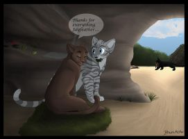 jayfeather x briarlight by brownwhisker