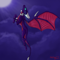 Cynder's flight by ROXDragonz