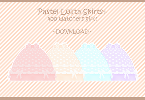 400 Watchers Gift! Pastel Lolita Skirts [DOWNLOAD] by ni-hility
