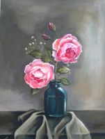 Pink Roses by Lubna-fatiha