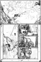 Wild Blue Yonder Issue 5 Page 9 Pencils by Spacefriend-KRUNK