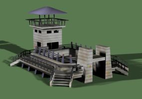 3D model of the Raptor Pit by jurassicpark