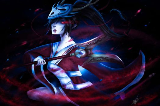 Blood Moon Akali by alittlethanh