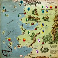 The five kingdoms of Western Ophiria by Fapor