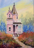ACEO Victorian in Pink by annieoakley64