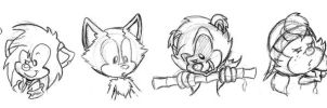 The Strays - Sketches by Karma-and-pencil
